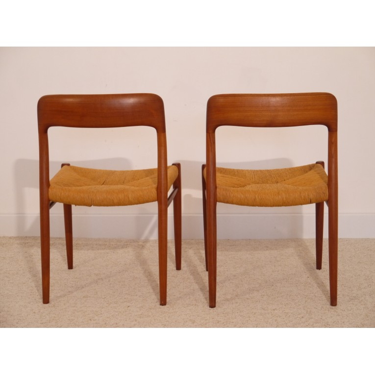 chaises vintage danoise niels o moller - Chaise Danoise
