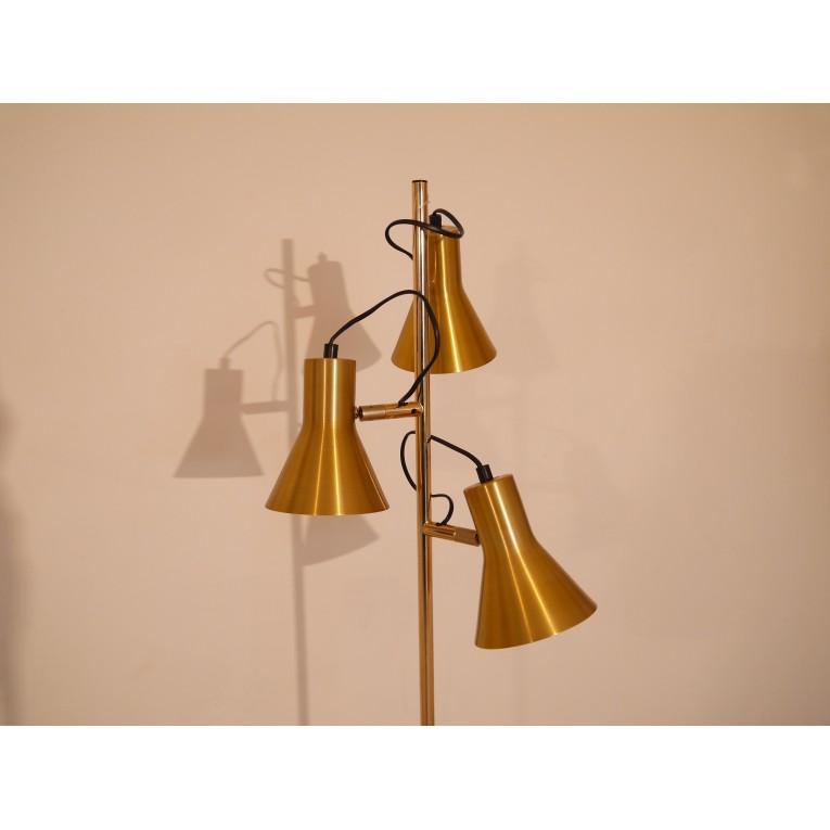 lampadaire vintage laiton 3 spots annee 60 la maison retro. Black Bedroom Furniture Sets. Home Design Ideas