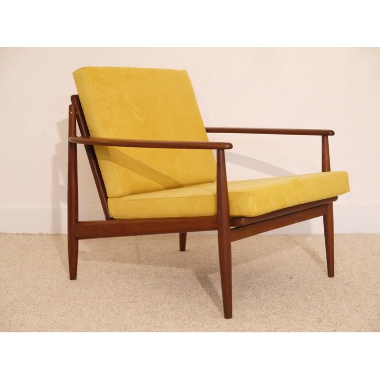 Fauteuil Design Vintage Danois Annee La Maison Retro - Fauteuil vintage moutarde