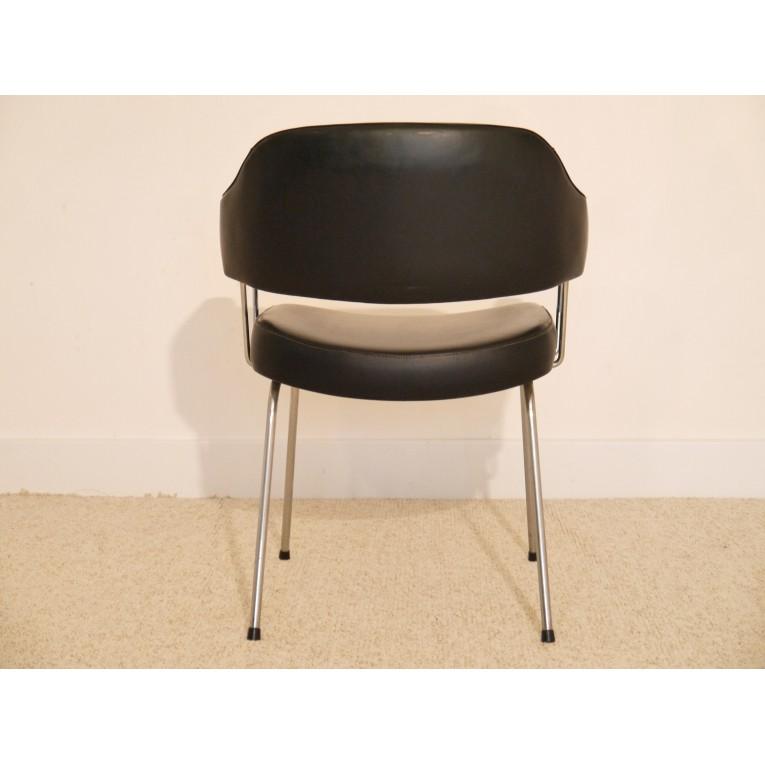 Fauteuil bureau vintage simili cuir la maison retro - Fauteuil de bureau retro ...