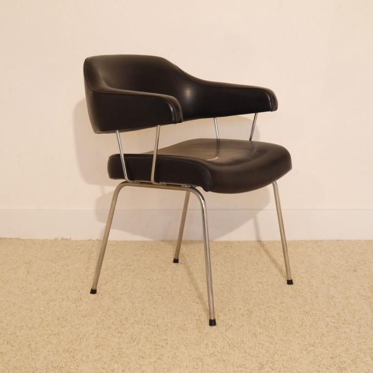 Fauteuil bureau vintage simili cuir la maison retro - Fauteuil retro ...
