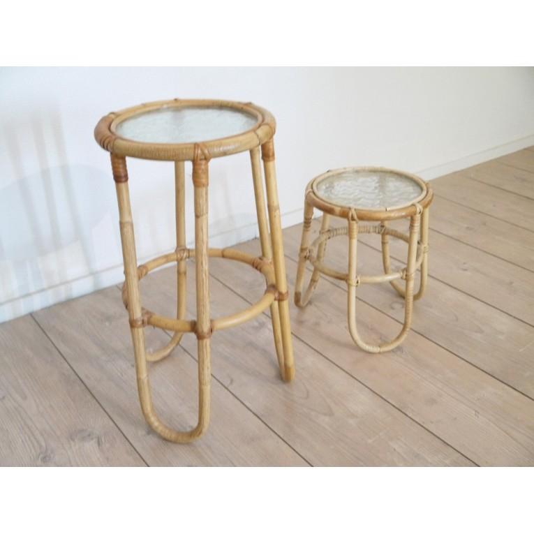 Table Rotin Mobilier Vintage La Maison Retro