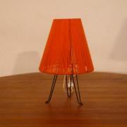Lampe vintage tripode orange