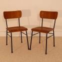 Paire de chaises vintage style indus