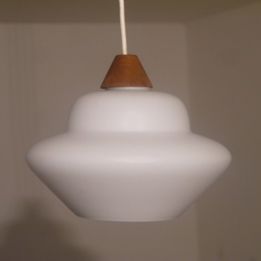 Suspension scandinave opaline et teck danemark 1960