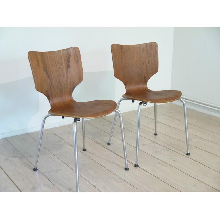 chaises scandinaves meubles vintage - la maison retro