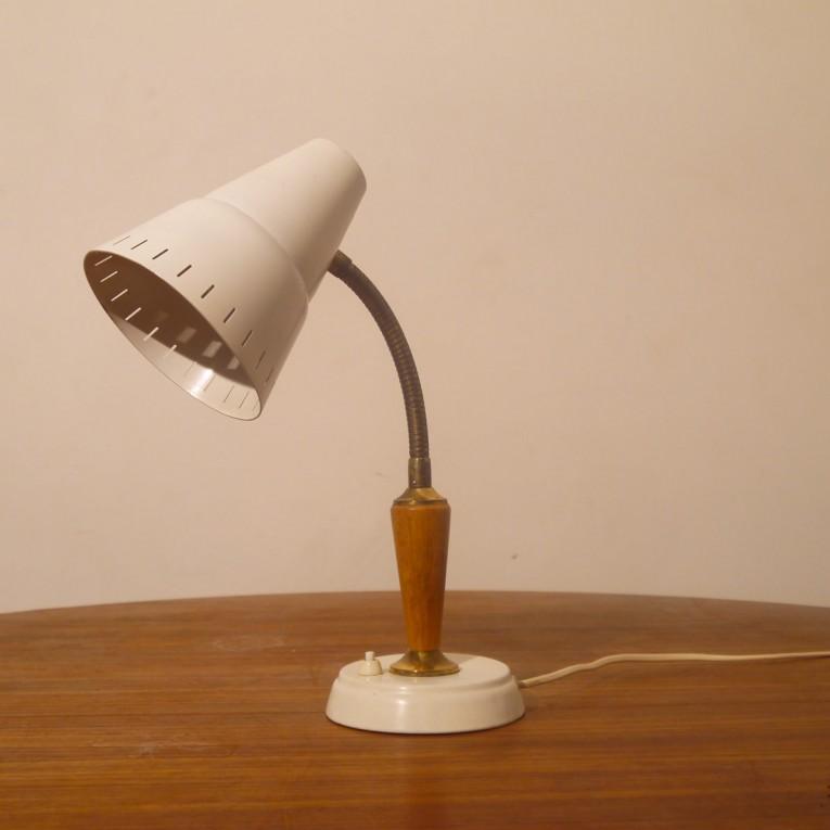 lampe vintage laiton bois metal 1960 la maison retro. Black Bedroom Furniture Sets. Home Design Ideas