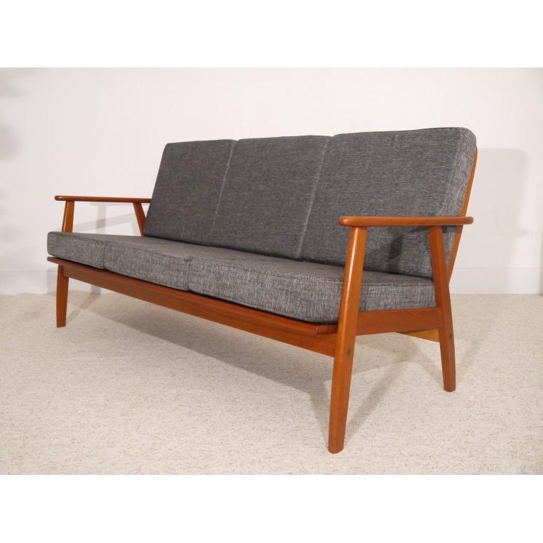 canape vintage scandinave design danois teck gris la maison retro. Black Bedroom Furniture Sets. Home Design Ideas