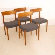Serie de 4 chaises scandinave design Nils Jonsson