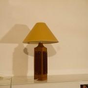 Grande lampe à poser vintage scandinave en teck