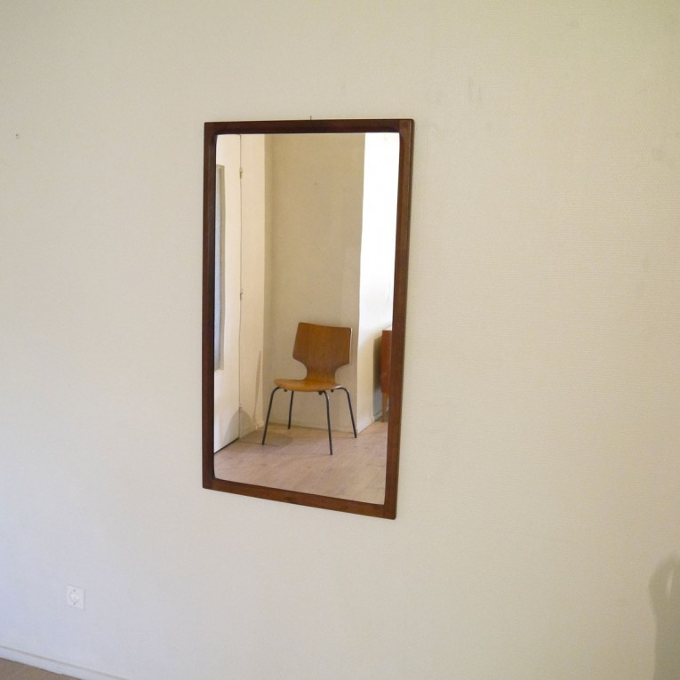 Miroir palissandre decoration scandinave la maison retro for Miroir scandinave
