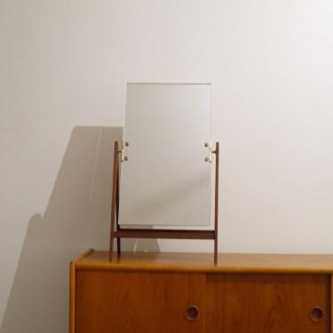 miroir a poser teck