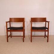 Paire de fauteuils vintage danois dlg Borge Mogensen