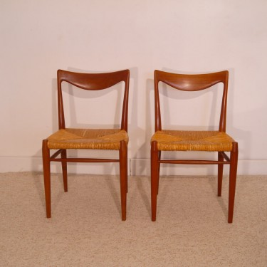 "Chaises vintage ""bambi"" design Rastad&Relling Norvege 1960"