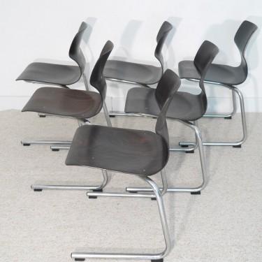 Serie de chaises vintage Pagholz Flototto 1970