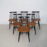 Serie de 6 chaises vintage fanett design Tapiovaara