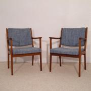 Paire de fauteuils vintage scandinave design de K.E Ekselius