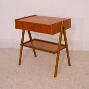 Table de chevet ou d'appoint vintage pieds compas