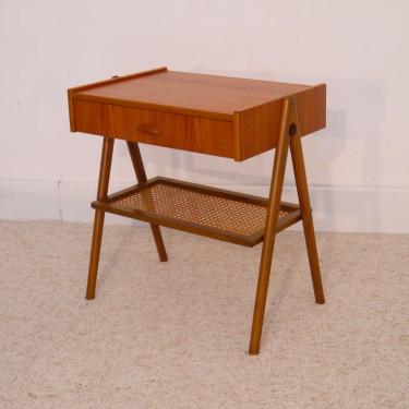 Table Chevet Vintage Scandinave Pieds Compas La Maison Retro