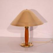 Lampe vintage scandinave laiton et bois 1950