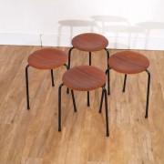 Serie de tabourets vintage tripode style Jacobsen