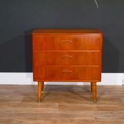 Petite commode vintage 3 tiroirs 1960