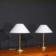 Paire de lampe vintage danoise Abo randers en laiton