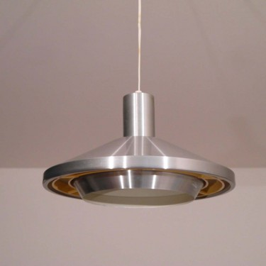 Suspension vintage scandinave en metal