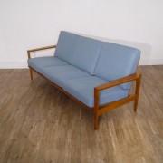 Canapé vintage scandinave Erick Wortz en chene