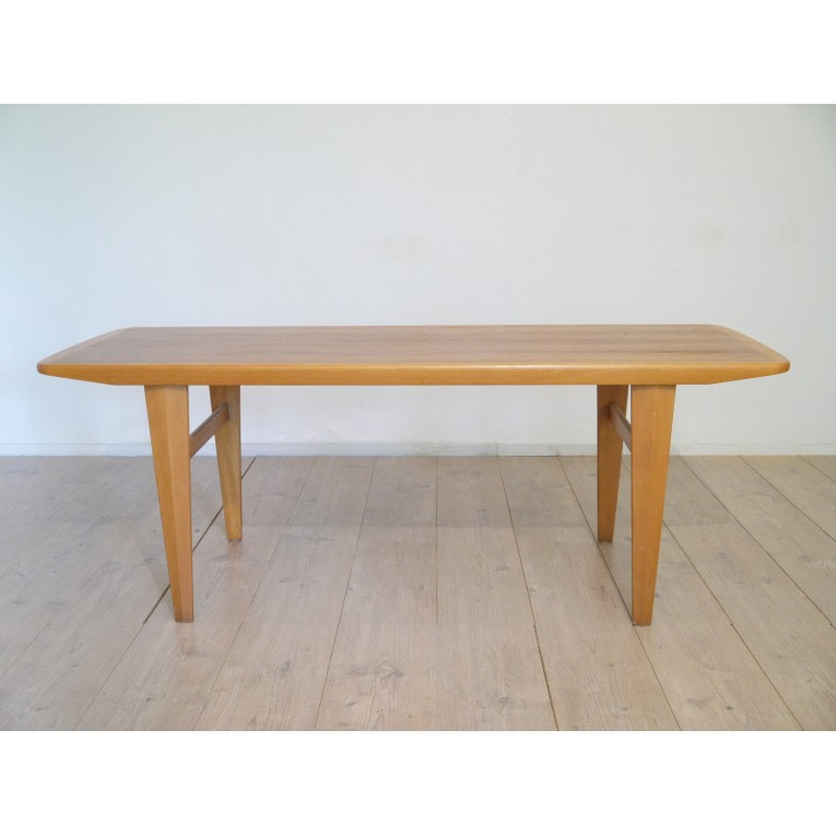 Table basse scandinave teck la maison retro - Table basse scandinave la redoute ...