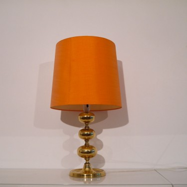 Lampe vintage scandinave en laiton 1970