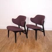 Paire de fauteuils dans le gout de Kofod Larsen