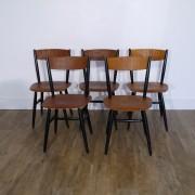Serie de 5 chaises Fanett design par Ilmari Tapiovaara