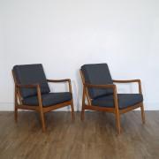 Paire de fauteuils danois design de Ole Wanscher modèle FD109