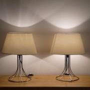 Paire de lampes vintage en métal 1970