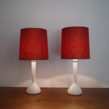 Paire de lampes danoise en verre de Holmgaard 1960