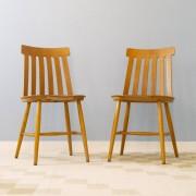 Chaises scandinaves en bois 1950