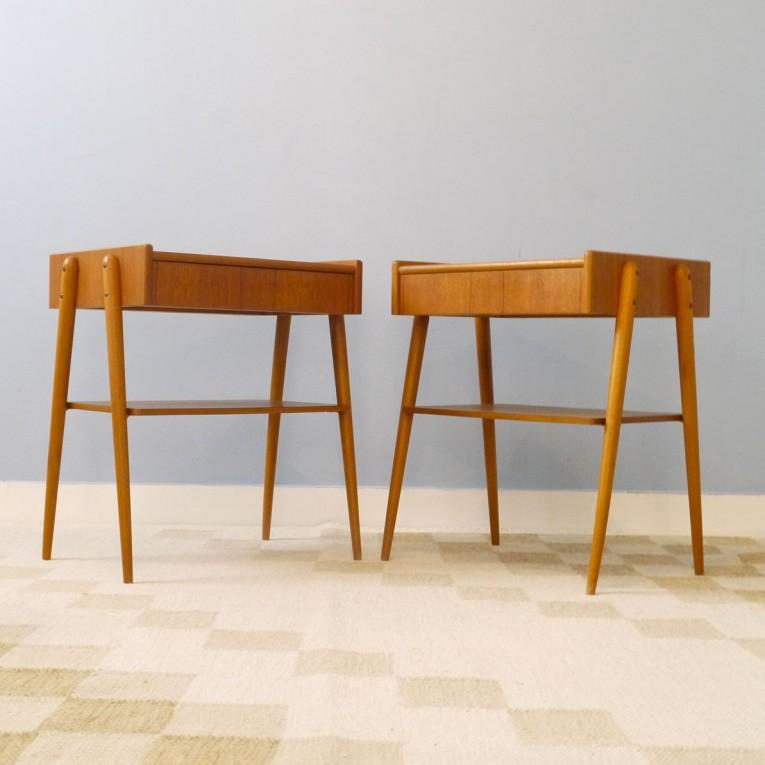 Chevets vintage scandinaves teck la maison retro - Table de chevet vintage ...