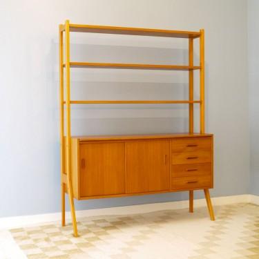 enfilade biliotheque vintage scandinave la maison retro. Black Bedroom Furniture Sets. Home Design Ideas