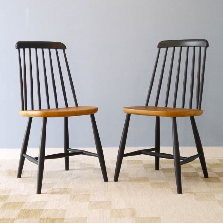 Chaises design scandinave bois la maison retro for Barreau de chaise