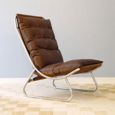 fauteuil vintage danois en cuir 1970 - Chaise Scandinave Cuir