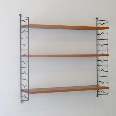 Etagères scandinaves string en teck