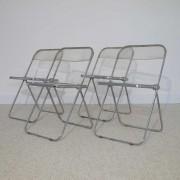 """Serie de 4 chaises vintage """"plia"""" design Castelli"""