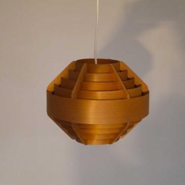 Suspension scandinave vintage en bois