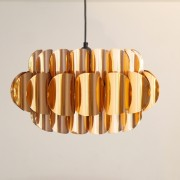 Grande suspension vintage en cuivre Thorsten Orrling