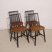 Serie de 4 chaises vintage scandinave