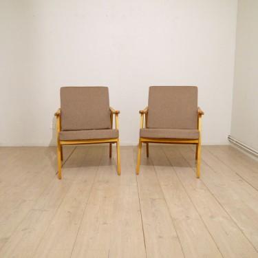 paire de fauteuils acajou