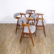 Serie de chaises danoise par Aksel Bender et Ejnar Larsen