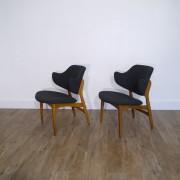 Paire de fauteuils vintage scandinave 1960