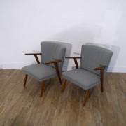 Paire de fauteuils vintage danois 1960